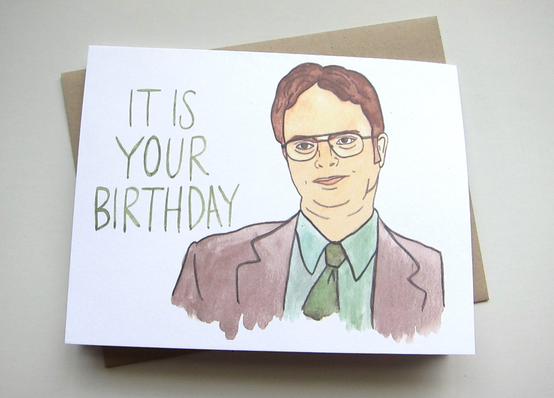 office birthday card  etsy, Birthday card