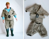 Safari outfit for large ken doll, Safari outfit for stuffed animals, doll clothes, boy scout outfit for dolls.