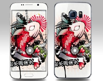 JAPANESE KOI Galaxy Decal Galaxy Skin Galaxy Cover Galaxy S6 Skin, Galaxy S6 Edge Decal Galaxy Note Skin Galaxy Note Decal Cover