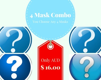 Any 4 PDF mask patterns of your choice.  Discount on felt mask patterns.