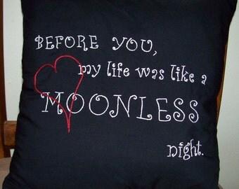 Twilight Inspired, Edward's Moonlight Night, Throw Pillow