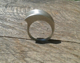Minimal Sterling Silver Ring - Contemporary Design - Made to order