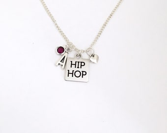Personalized I Love Hip Hop Necklace