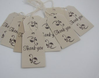 Thank You Tags set of 20 Bridal Shower Wedding Thank You Tags  Scrapbooking Favors