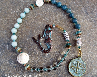 Layaway for Feralfae - MERMAID Witches Ladder and EARTH GODDESS Mini Mala (2 items)