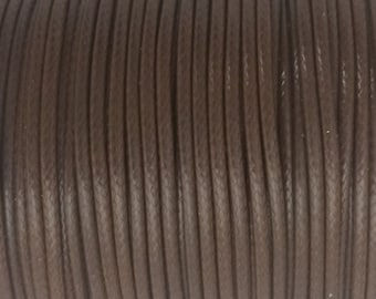 5 YARDS - 2MM Brown Woven Braided Waxed Nylon Cording Trim #49