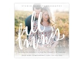 Booking ad -  Fall mini session design - Photoshop template - E1331