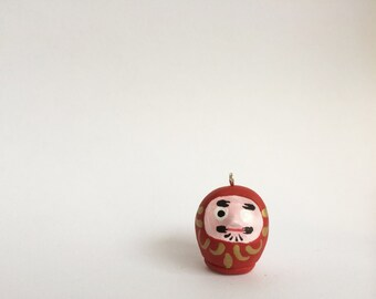 Daruma Doll Necklace - Keep Your Goals Close - Custom Any Color Made to Order