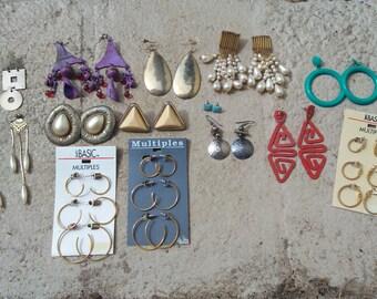 Vintage Earring Destash for Upcycling