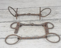 3 Vintage Iron Horse Harness Bit Antique Bits Bridles Old