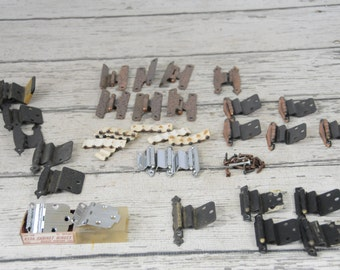 Mixed Lot x28  50s 60s Vintage Cabinet Hinges