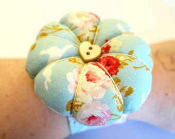 Blue Flower Pincushion Craft Kit Sewing Accessories Craft Kits For Adults Sewing Kit Sewing Gifts