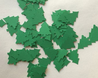 Green Christmas Tree Die Cut Punch Out Embellishment