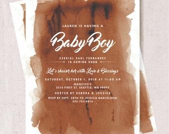 Rustic Fall Baby Shower Invite - Digital or Printed