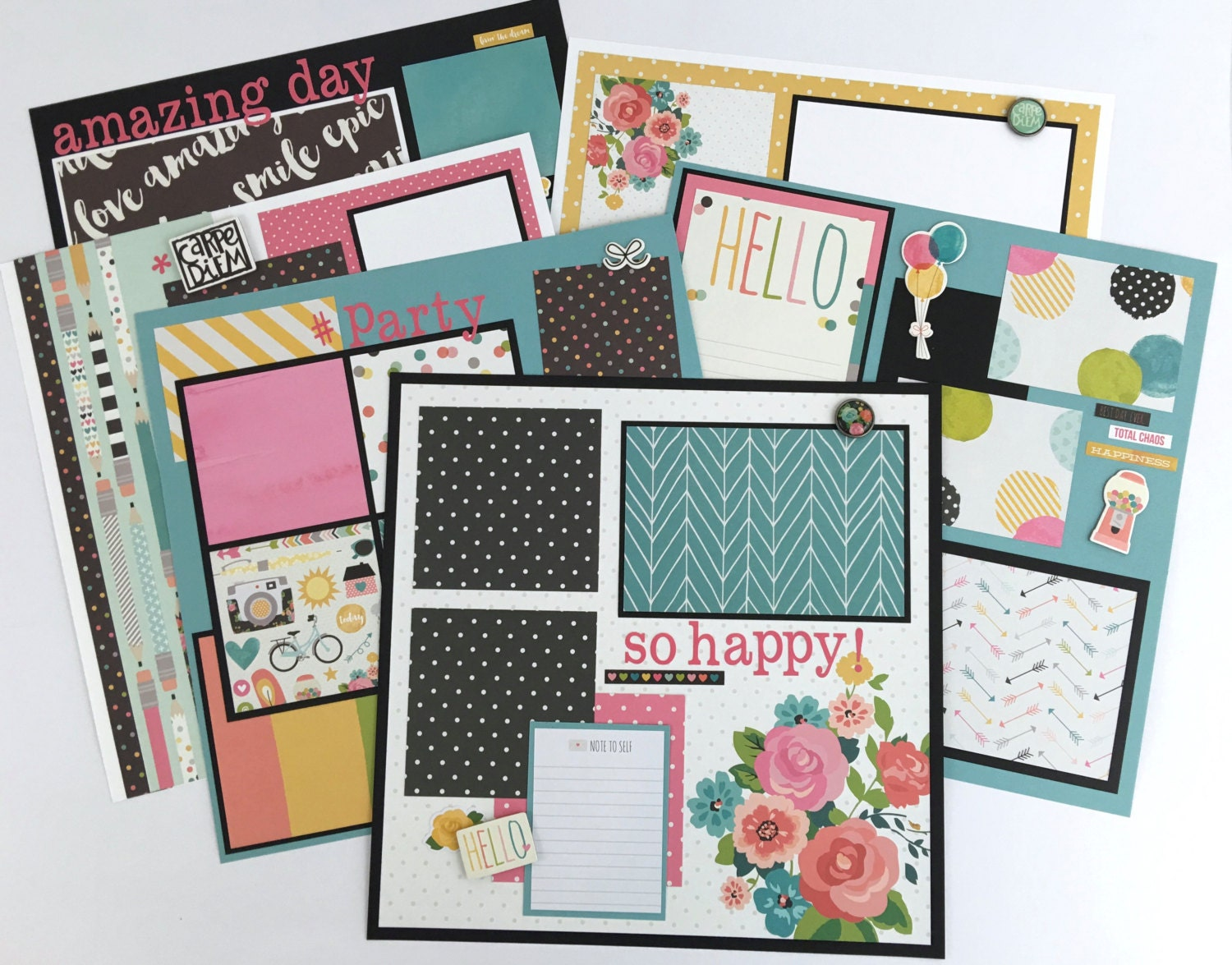 Scrapbook Page Kit 12x12 Or Premade Pre-Cut With By ArtsyAlbums