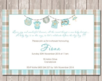 Baby Showere Personalised Invitation - YOU PRINT