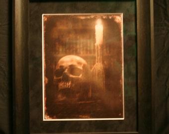 """Photo print """"Dark Witchery"""" tin-type style, pro-matte & frame"""