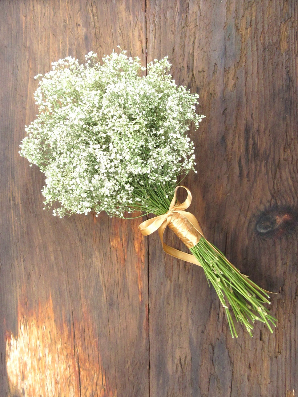 Simple Dried Baby S Breath Bouquet Medium Wedding