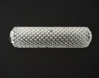 Vintage Glass Hobnail Diamond Shade for Vanity Fixture // Lighting Lamp