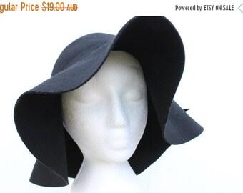10,000 LIKES 7 Day Sale 90s Felt Floppy Wide Brim Hippie / Festival Hat