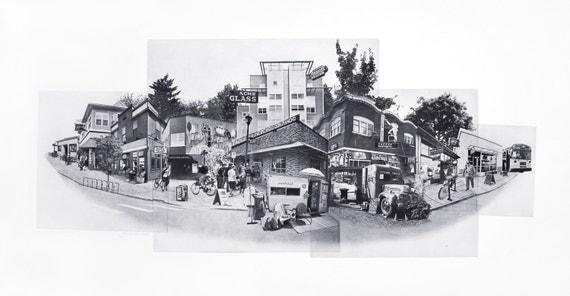 Portland Fine Art - Original Art - Photographic Etching - Art Print - Photography - Landmarks - Oregon - Photogravure - Captured by Alberta