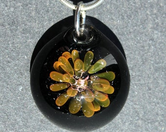 Gold Fumed Implosion Pendant