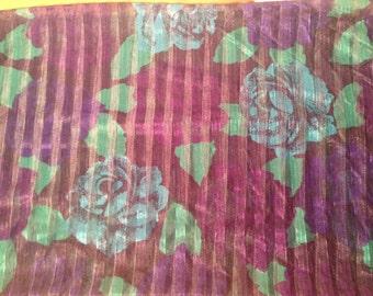 Beautiful Sheer Floral Fabric F32