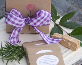 Herb Garden Seed Kit Gift for Gardener or Hostess Gift Grow Your Own Herbs Deluxe Herb Kit 9 Varieties of Herb Seeds
