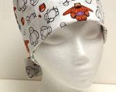 Ladies Surgical Scrub Hat - Chemo Cap - Pixie - Big Hero 6 Baymax