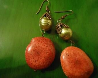Boho Gypsy Chic Spring Bold Stone Drop Earrings