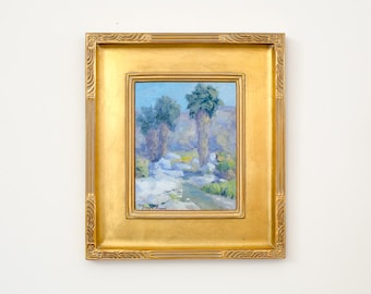 Vintage Original Signed Framed Oil Painting by Listed Contemporary California Plein Air Artist Joseph Aaron
