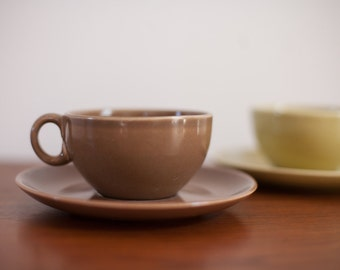 Russel Wright Cup and Saucer Set - Demitasse Iroquois Casual China Pottery
