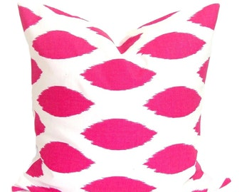 PINK PILLOW.20x20 inch.Pillow Cover.Decorative Pillows.Pink Throw Pillow Cover.Housewares.Pink Throw Pillow.Pink Ikat Pillow. Pink Cushion