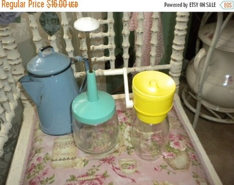 SUMMER SALE Retro Food Choppers, Primitive, Shabby Chic Kitchen, Country Kitchen, Eclectic Kitchen,French Kitchen