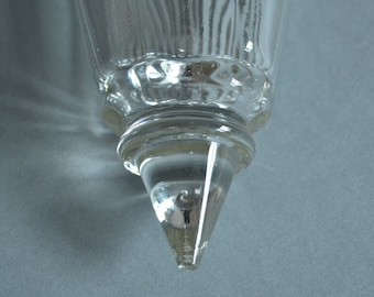 Glass Wall Pockets Cut Glass Wall Pockets Glass Wall Vase Pair of Wall Pockets Wall Flower Vases Pair of Wall Pockets Wall Decor Glass Vases