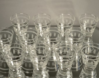 Short Cocktail Glasses Mid Century Clear Cocktail Glasses Etched Cocktail Glasses Clear Cocktail Glasses Cocktail Glass Set Etched Drinkware
