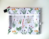 Botanical Divided Pouch Medium (handmade philosophy's pattern)