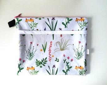 Botanical Divided Pouch Medium (handmade philosophy's pattern)