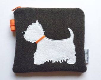 West Highland Terrier Coin Purse Pouch Westie Gift