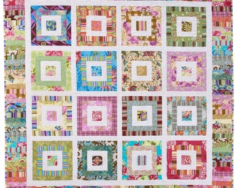 Funky Scrap Quilt Pattern PDF by Emma Jean Jansen - Immediate Download