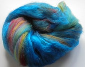 Reserved for Linn - BRIGHT SUNSHINY DAY - Soft Luxury Art Batt to Spin or Felt Made of Merino Wool, Bamboo, Alpaca, and Firestar