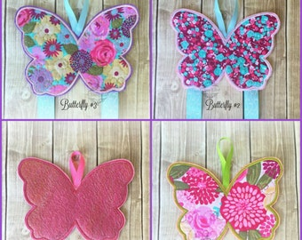 Butterfly Hair Bow Holder Floral Bow Holder/ klippie keeper for Hair Clips/ Pins OR Headbands