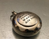 Not All Those Who Wander Are Lost Working Compass, Engravable Compass, Lidded Compass, Compass, Gifts for Him, Travel Gift, Holiday Gift