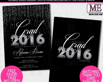 Graduation Party Invitations, Printable Invitation, Printed Invitations