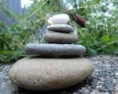 Natural Beach Stone Stack 5 Wonderful Ocean Rocks Zen Garden Sculpture Rock Art Fountain Yoga Meditation Gift Zen Stones Rustic Home Decor