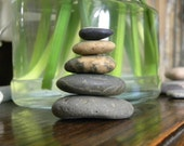 Natural Beach Stone Stack 5 Ocean Rocks Zen Stones Zen Garden Sculpture Waldorf Balance Meditation Therapy Fountain Yoga Sculpture Gift Sea