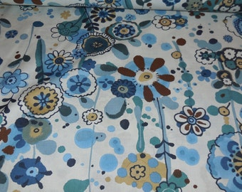 Larkspur In Bloom / Indigo - Floral  Alexander Henry Fabric 1 Yard
