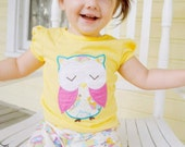 Owl outfit clothing set