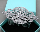 Wedding Headpiece, Gold Hair Comb, Silver Hair Comb, Rhinestone Crystal Wedding Hair Comb, Aligator Clip,Barrette Clip, Bridal Hair Comb