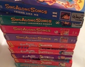 Disney's Sing Along Songs VHS Collection Lot of 9 Tapes
